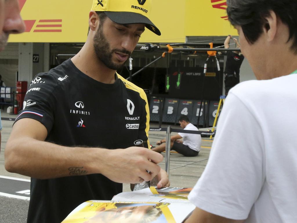Renault driver Daniel Ricciardo.