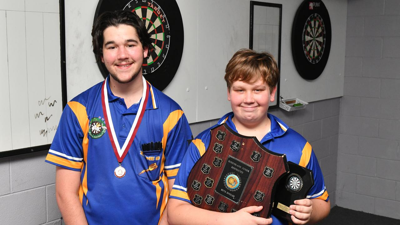 Zahn and Alan Hellmuth both had success at this year's Queensland Darts Junior State Championships