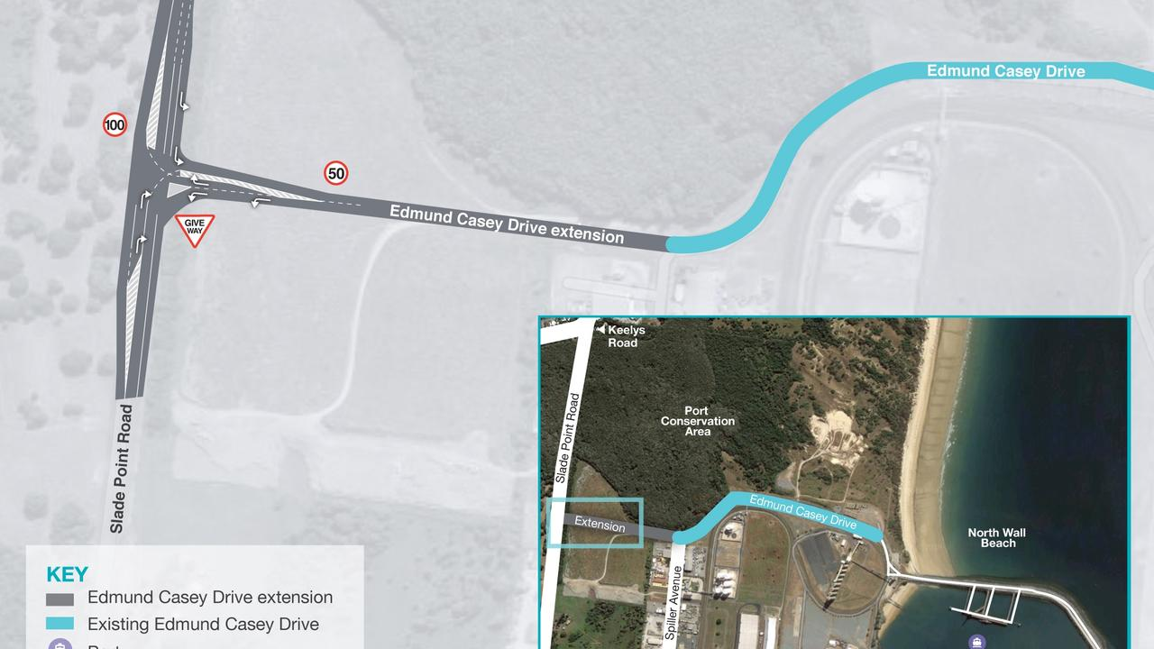 Edmund Casey Dr will be extended.