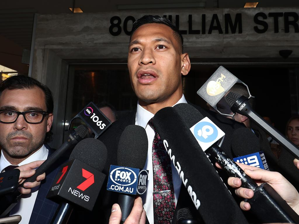 Israel Folau at the Fair Work Commission.