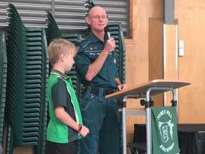 VIDEO: Gympie 9yo boy saves dad's life