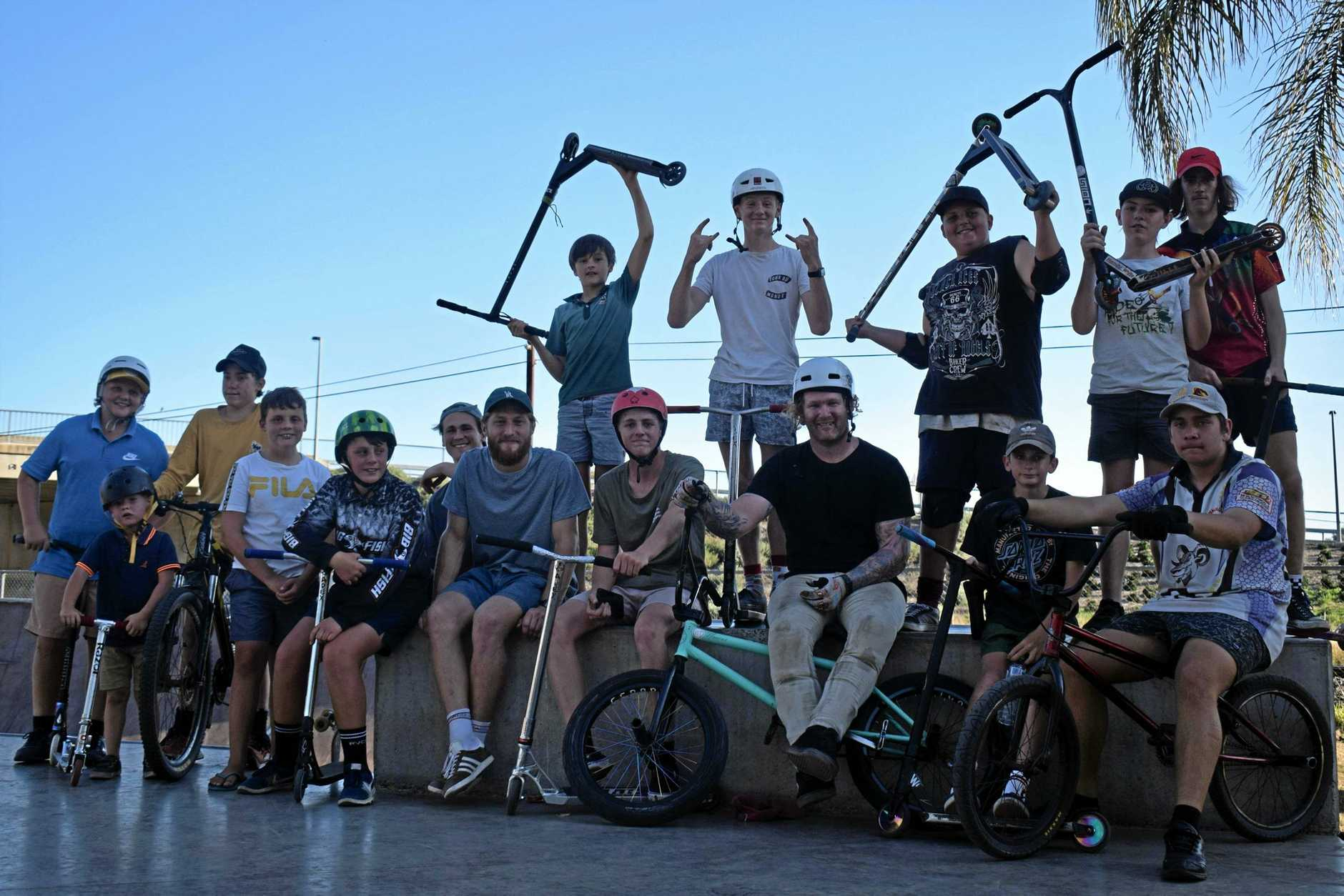 TIPS AND TRICKS: Chinchilla youth spent the afternoon with former professional BMX rider Josh Fountain, enjoying an afternoon of tricks and talks.