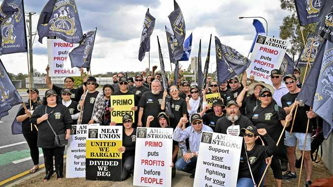 'Struggling' meat workers strike for 'fair' wage increase
