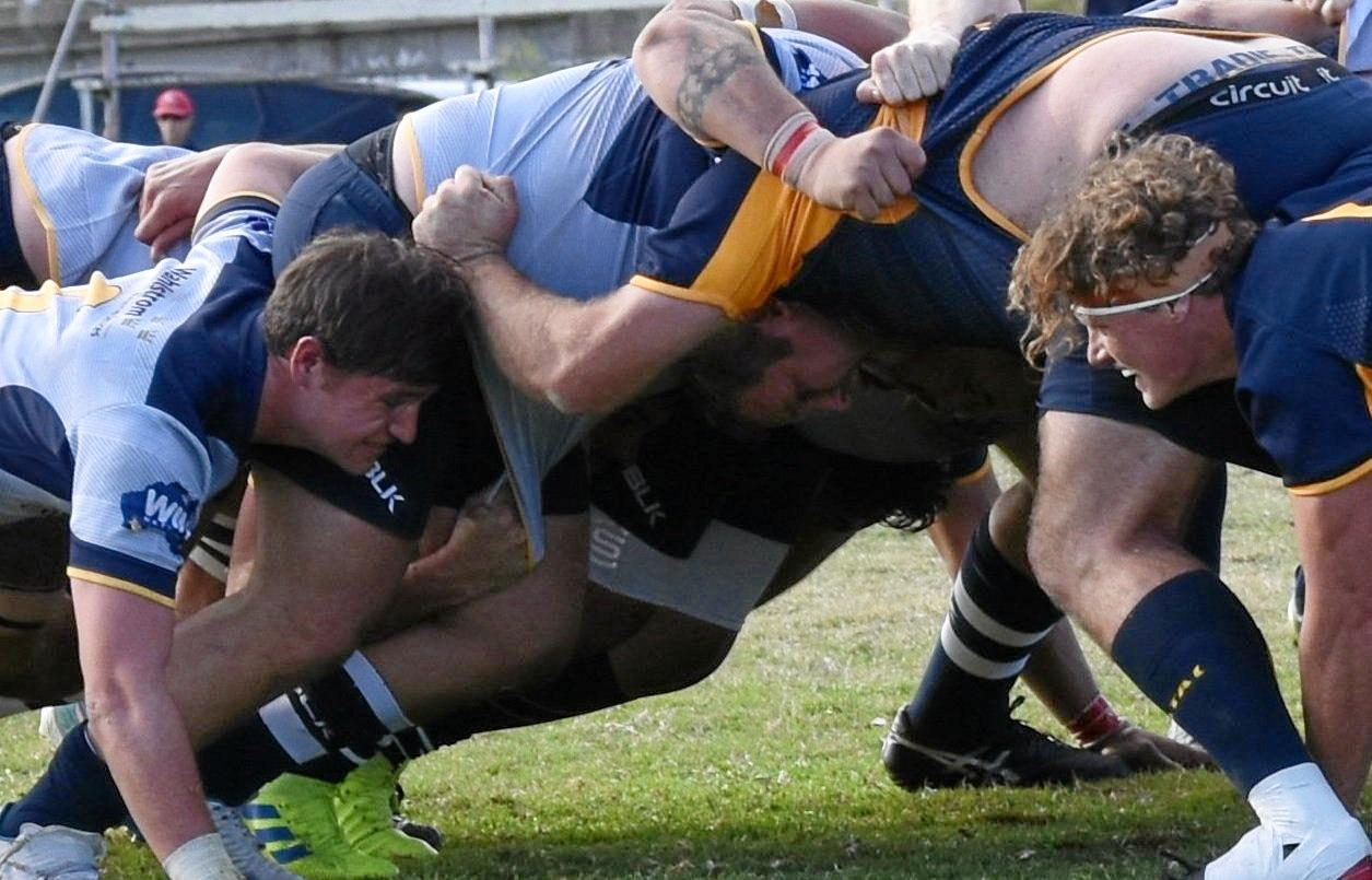 Rugby union action in Gympie