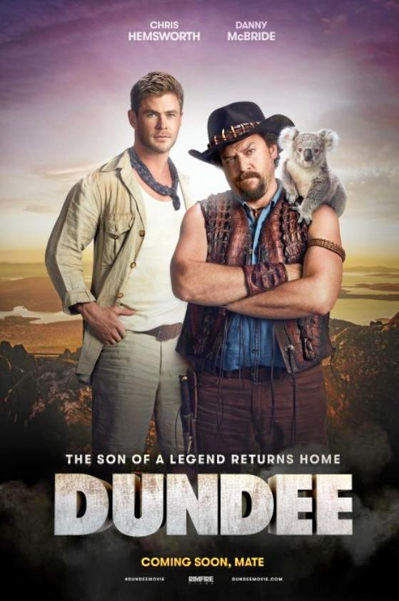 The Dundee poster featuring Chris Hemsworth and Danny McBride.