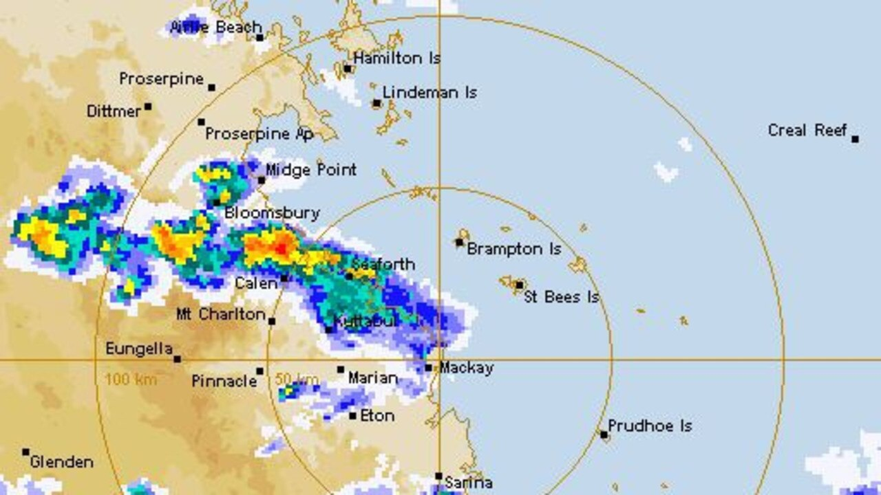 OMINOUS: A weather system forming over the region at 3.30pm
