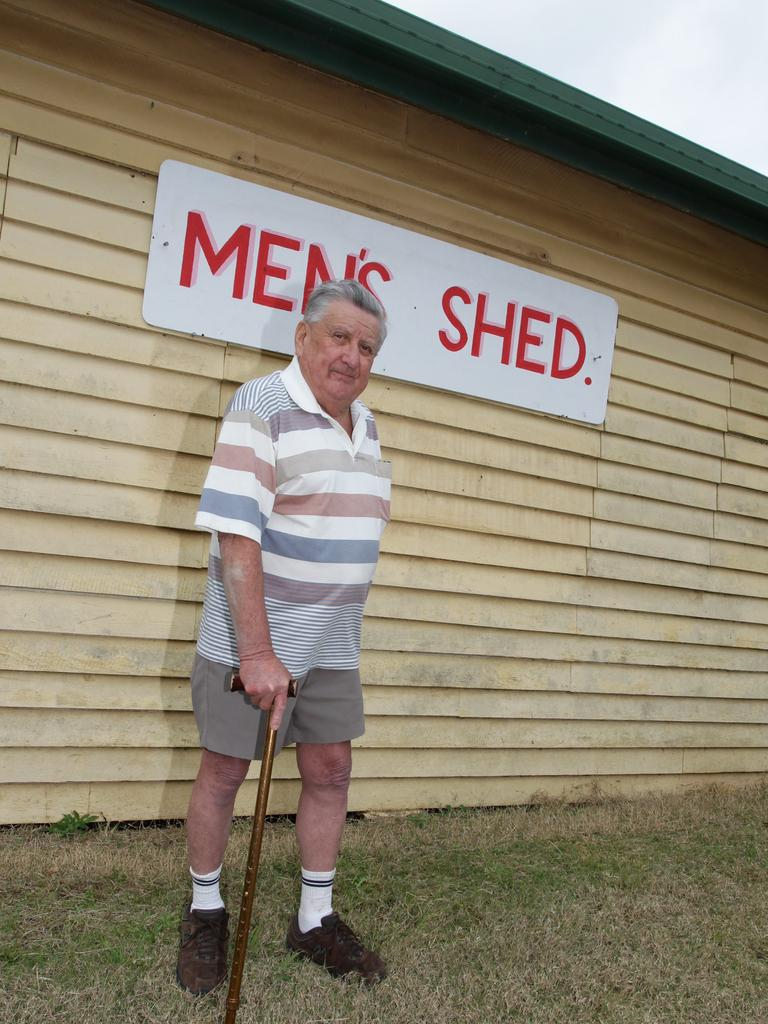 Ray Grace outside the Sunshine Valley Men's Shed on Blackall Range Rd which sits on land he donated and paid to have excised from his own home property.