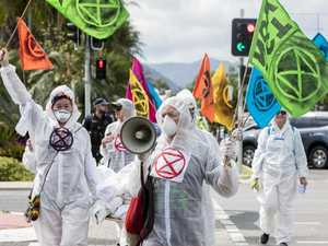 Extinction Rebellion protesters disrupt traffic in CBD