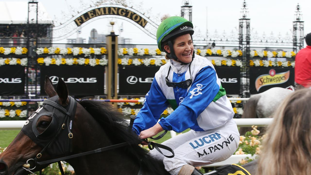 Payne's historic Melbourne Cup win, the first for a female jockey, is now the subject of a film.
