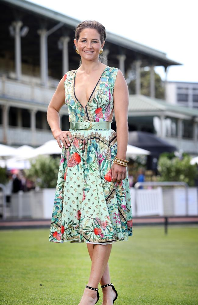 Michelle Payne at the Everest Carnival fashion lunch. Picture: Richard Dobson