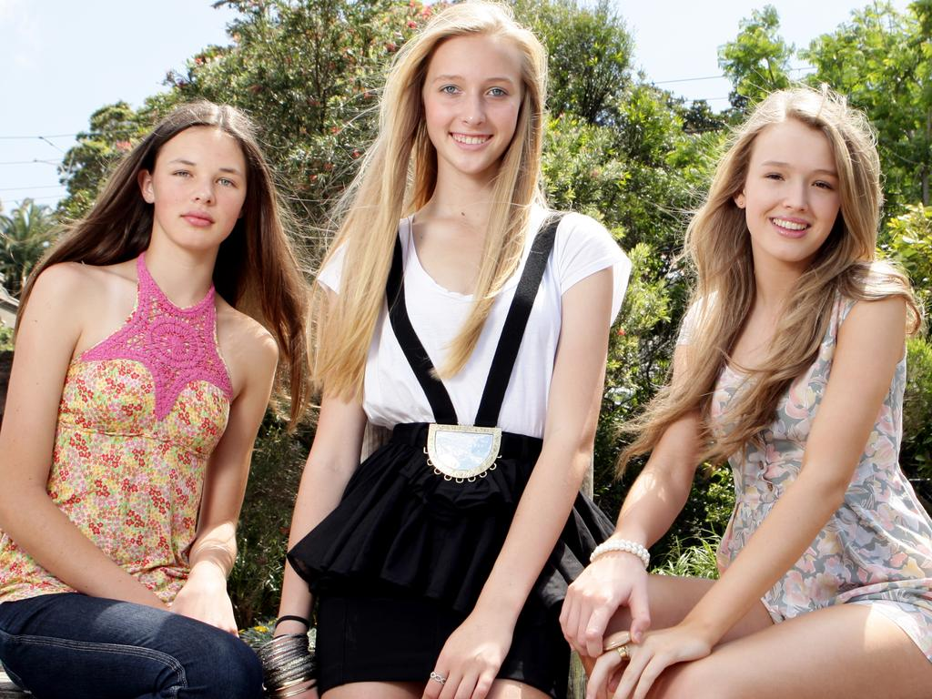 Girlfriend Rimmel Model Search competition finalists (L-R) Jacquie McGrath, Tiffany Adcock and Maddison Brown in 2010. Picture: Supplied