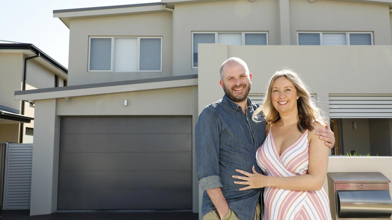 Gemma Hudson and Jake Healey at their new home in Chifley. Picture: Chris Pavlich