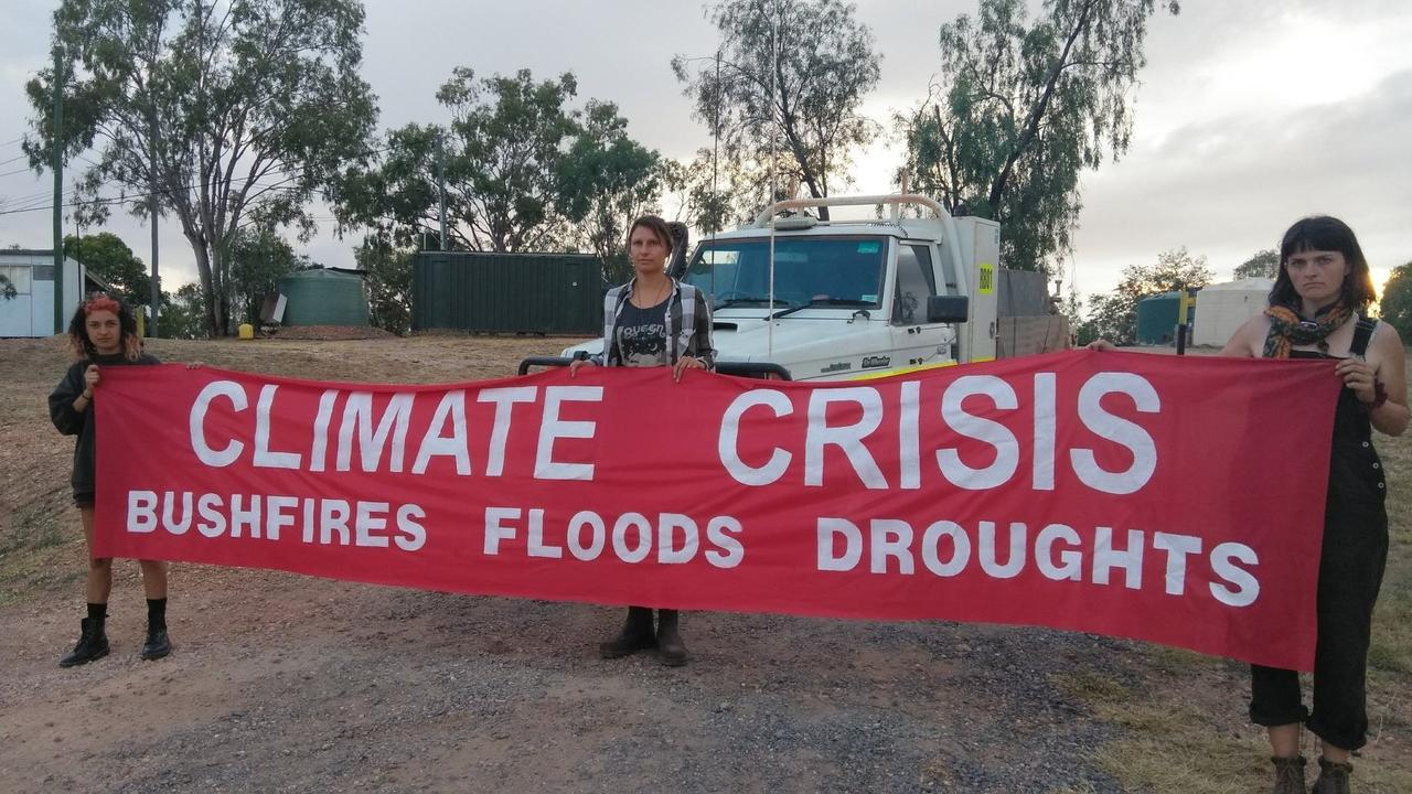 Anti-Adani climate protesters.