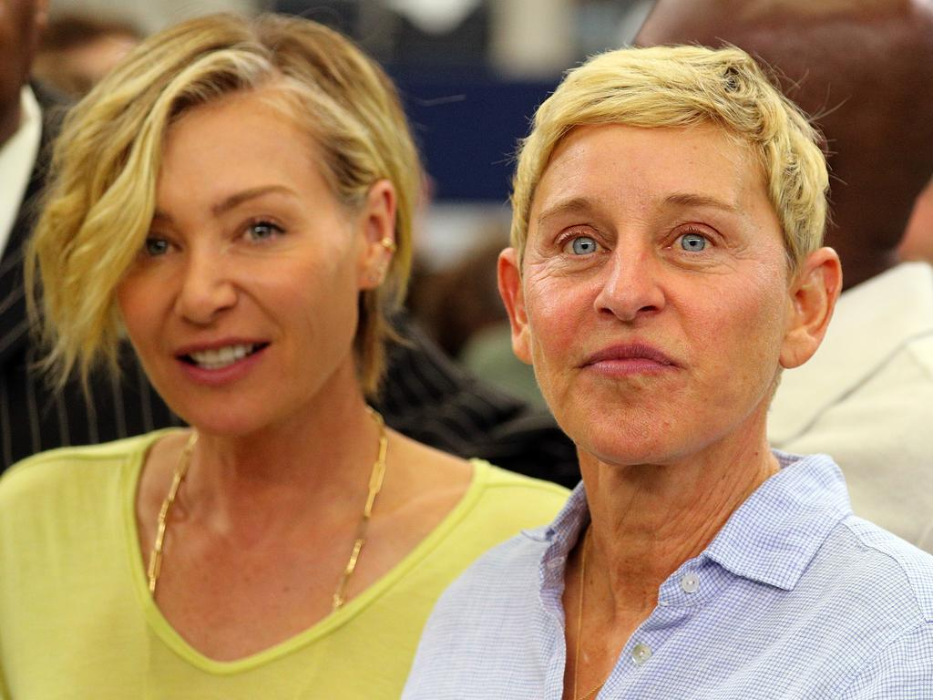 Portia de Rossi was with Ellen DeGeneres at the Dallas Cowboys game on October 6. Picture: Getty Images