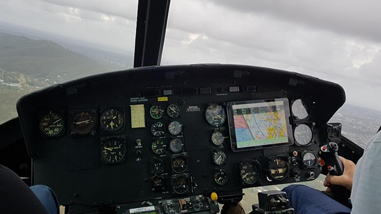 The instrument panel in David Kerr's Huey.