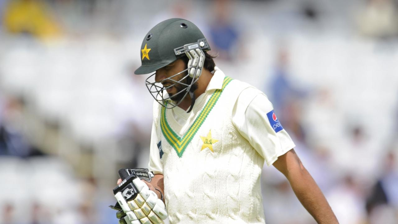 Shahid Afridi walks off the field during the 2010 Test against Australia at Lord's.
