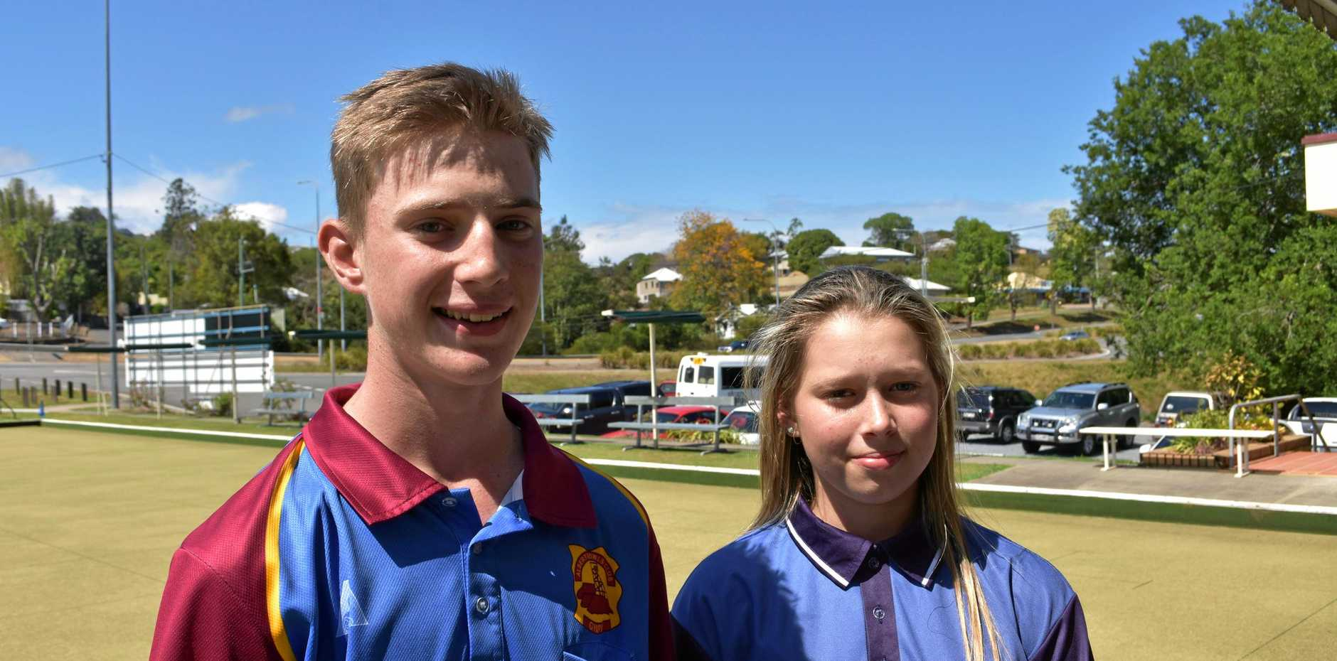 Cody Bernard and Chloe Runge took out first place in a tournament which attracted teams from Bundaberg to Brisbane.