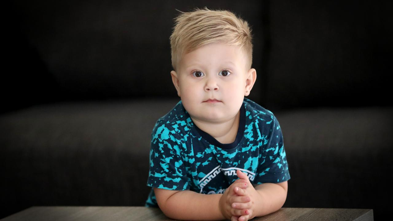 Harry Weeks has been withdrawn since his foot was injured at daycare. Picture: Jamie Hanson