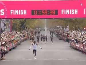 Marathon star creates history with superhuman feat