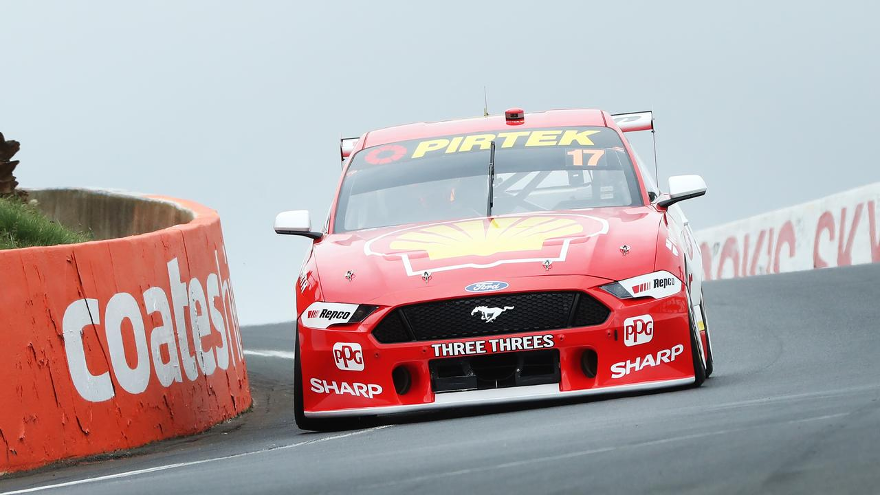 Lowndes and Whincup are set on getting past Scott McLaughlin. Picture Rohan Kelly