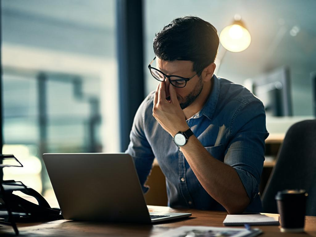 Many of us are familiar with feeling stressed at work, but feeling worried constantly could be a sign you have clinical anxiety. Picture: iStock