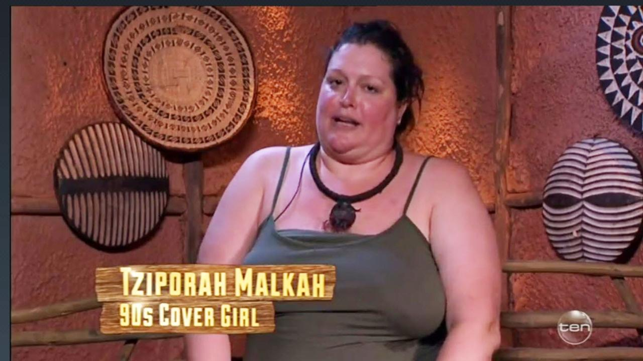 Malkah appeared on series three of I'm A Celebrity … Get Me Out Of Here! Picture: Channel 10