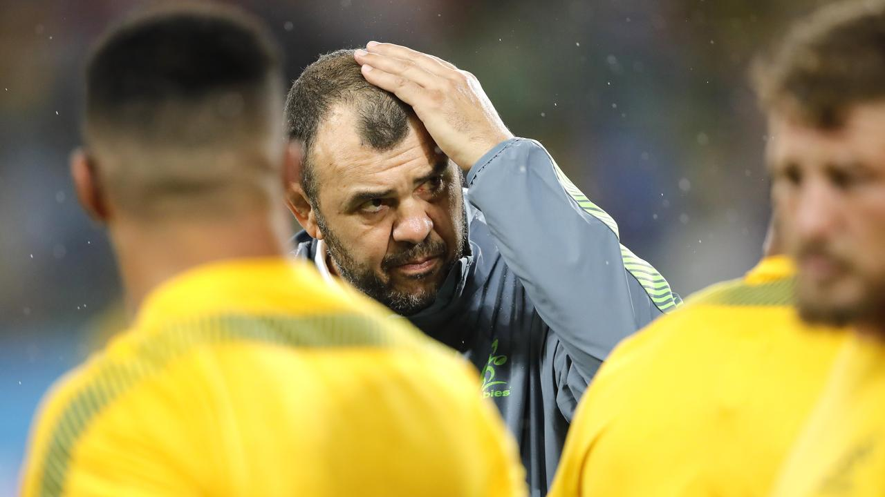Australia coach Michael Cheika wants to persist with Australia's ball in hand tactics.