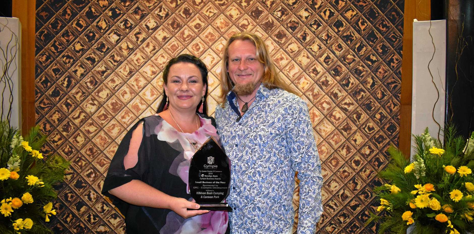 PASSION: Antonija and Ralph Monckton from Kilkivan Bush Camping and Caravan Park got the Small Business of the Year award.