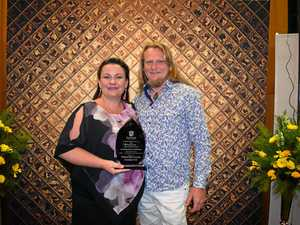 Gympie award win after 'spur-of-the-moment' decision