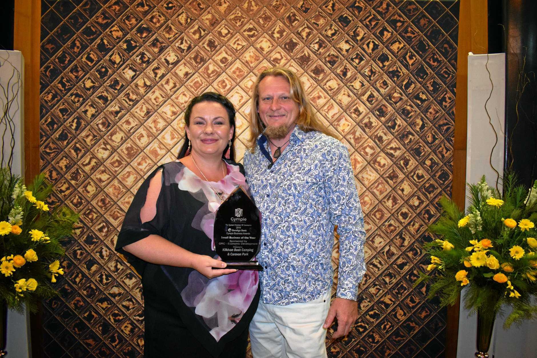 PASSION: Antonija and Ralph Monckton from Kilkivan Bush Camping and Caravan Park got the Small Business of the Year award.