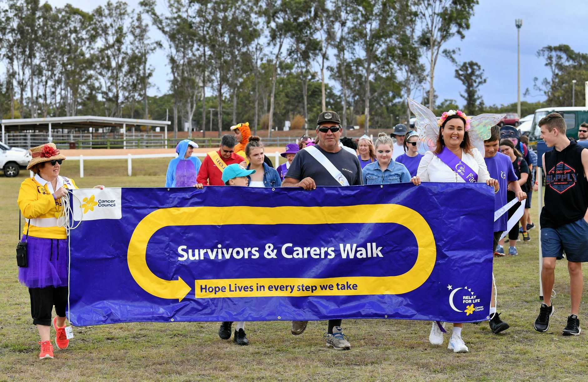 Maryborough Relay For Life - the survivors and carers walk.