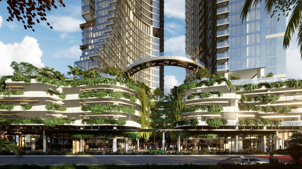 Artist impression of the Orion Towers proposed for Surfers Paradise