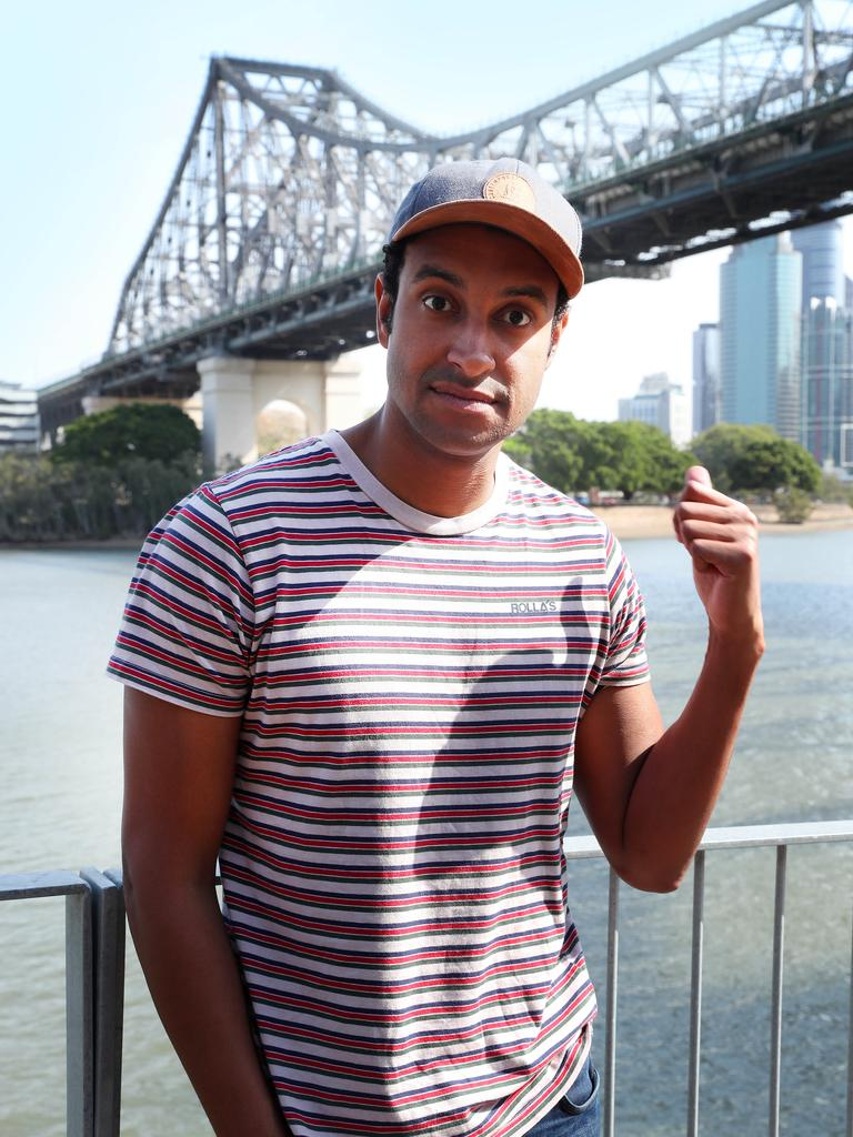 Brisbane comedian and writer Matt Okine. Picture: Liam Kidston.
