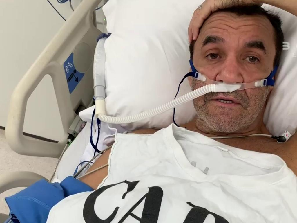 Australia's greatest boxer Jeff Fenech in hospital in Thailand. Picture: Fight Call Out