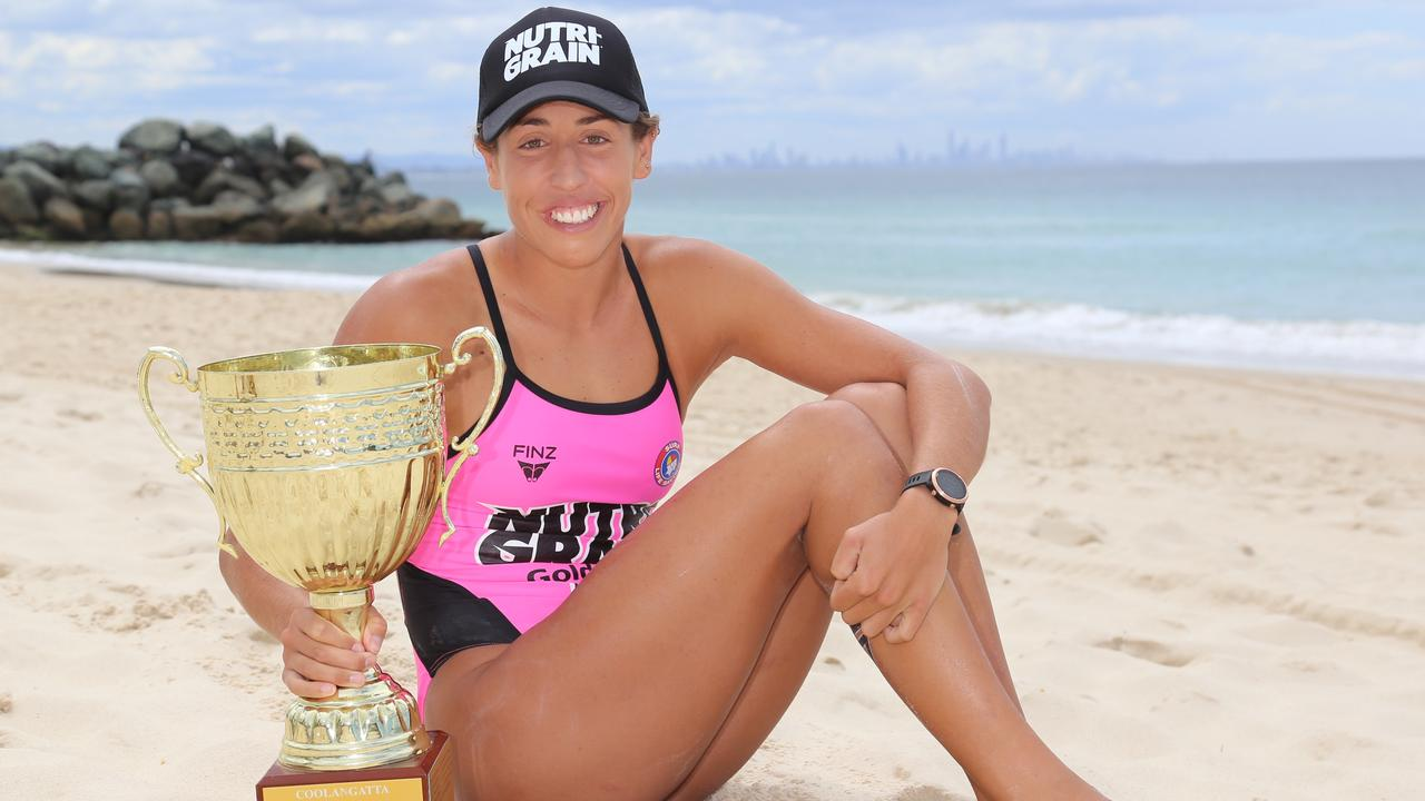 CHAMP: Lana Rogers won the taxing Coolangatta Gold. Picture: HarvPix.