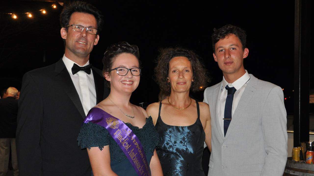 Francois Gallais with Pinefest Ambassador Quest winner Camille Gallais, Diane and Clem Gallias