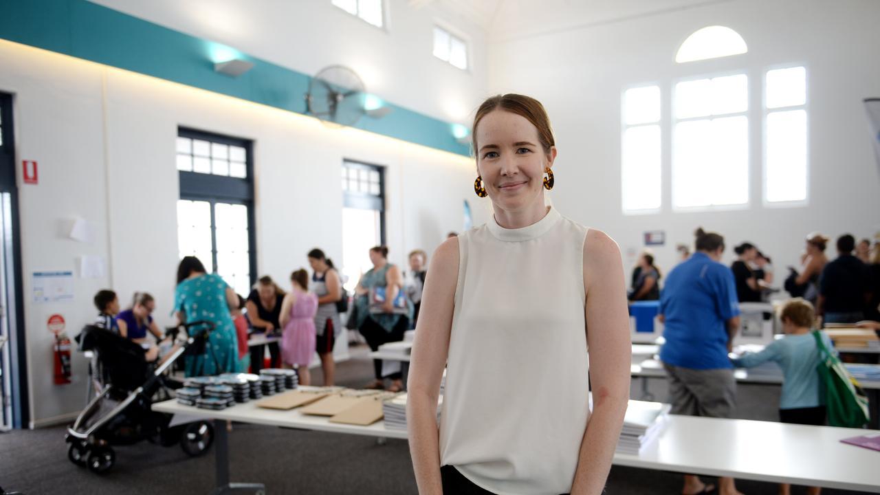 Anna Morris at pop up shop.