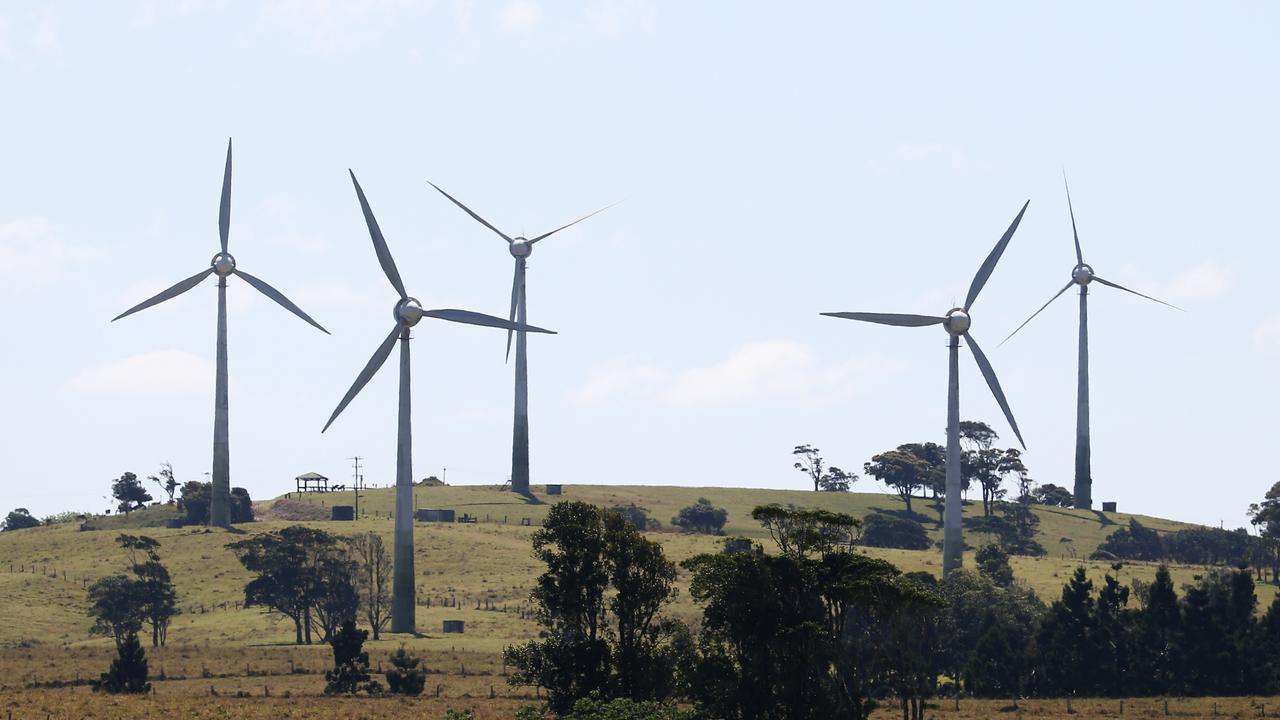 Wind turbines at the Windy Hill wind farm near Ravenshoe, Far North Queensland. PICTURE: BRENDAN RADKE.