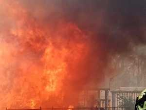 Dramatic footage of Rappville fire