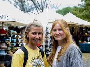 Nadja Spilok and Alina Springer, from Frankfurt, at