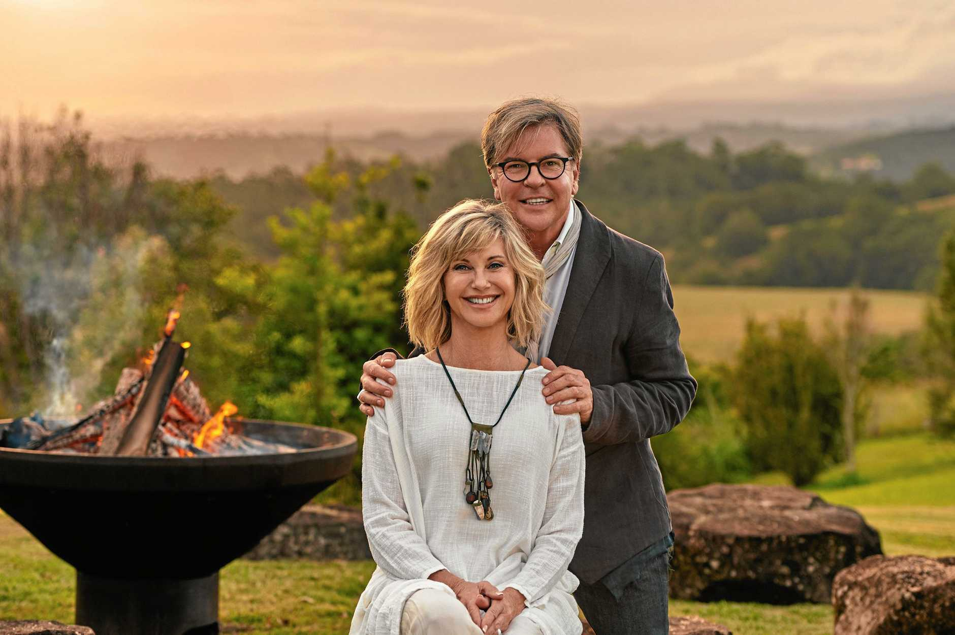 Co-owners Olivia Newton-John and Gregg Cave at Gaia Retreat & Spa.