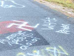 White supremacists leave crude messages on school bus route