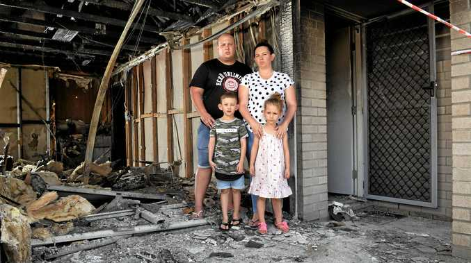 Family forced to start over after losing everything in fire