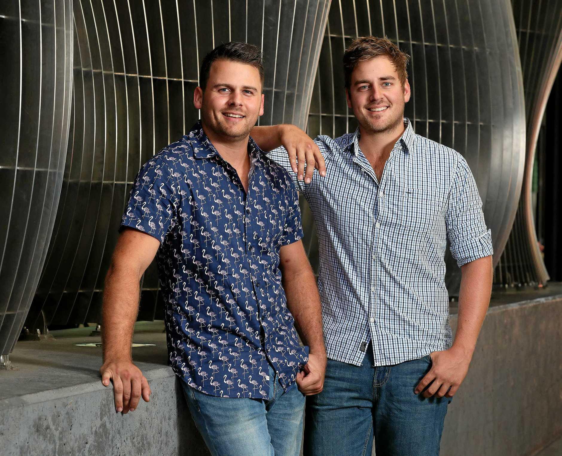 House Rules contestants Josh and Brandon Jarius. Photographer: Liam Kidston.