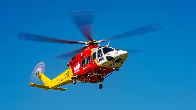 Man with serious head injury flown to QLD