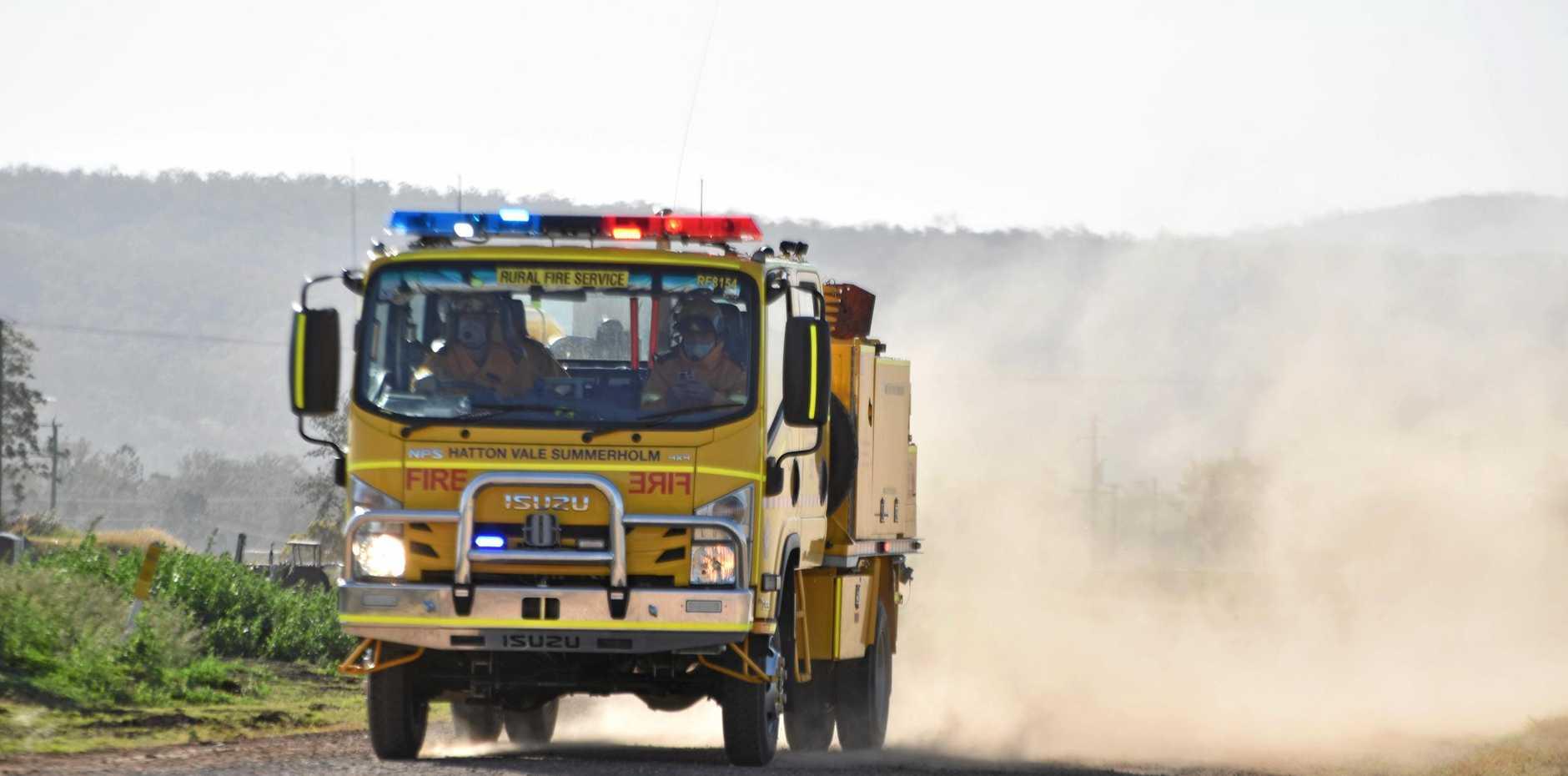 A rural fire truck.
