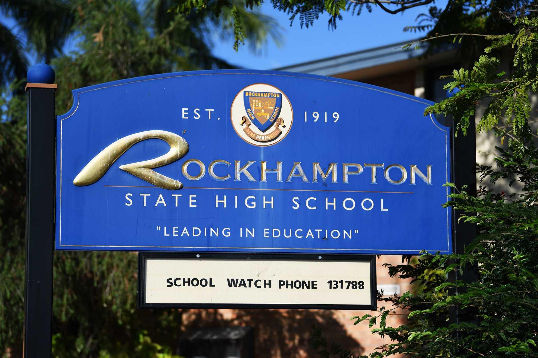 Rockhampton State High School. PHOTO: Allan Reinikka