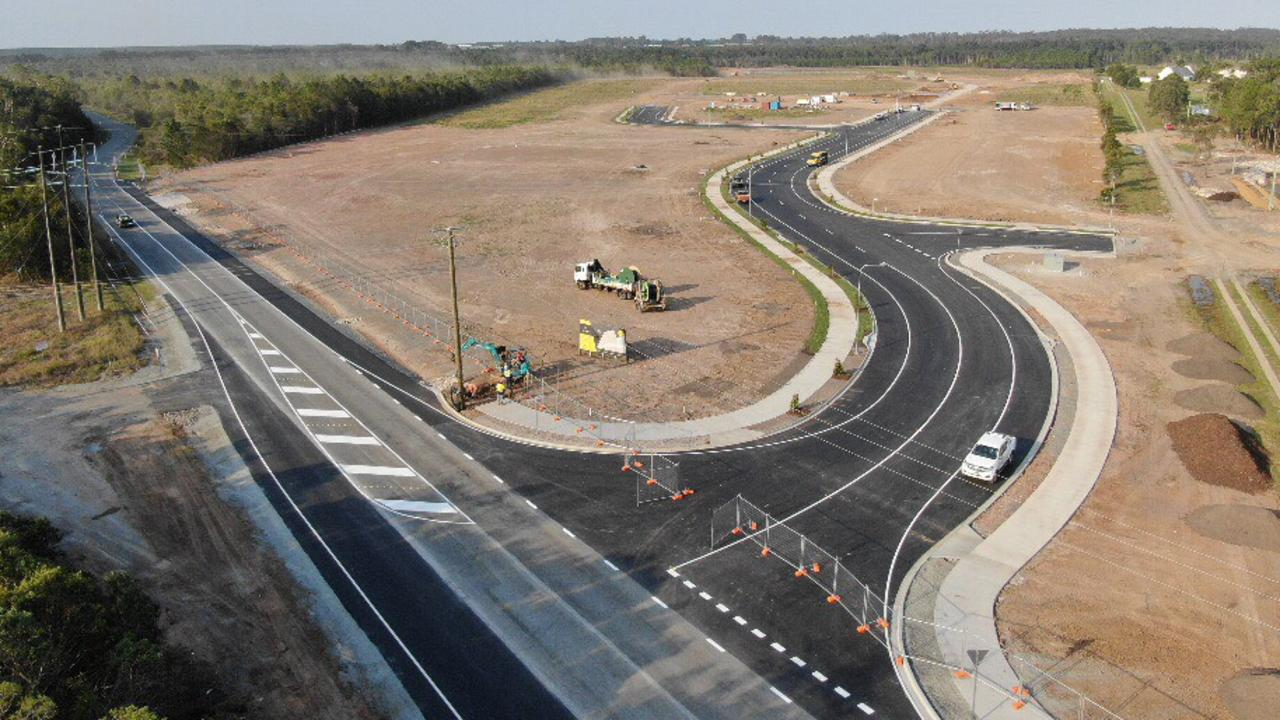 Aerial shots of completed Corporate Park East stage one near the Caboolture Airfield.