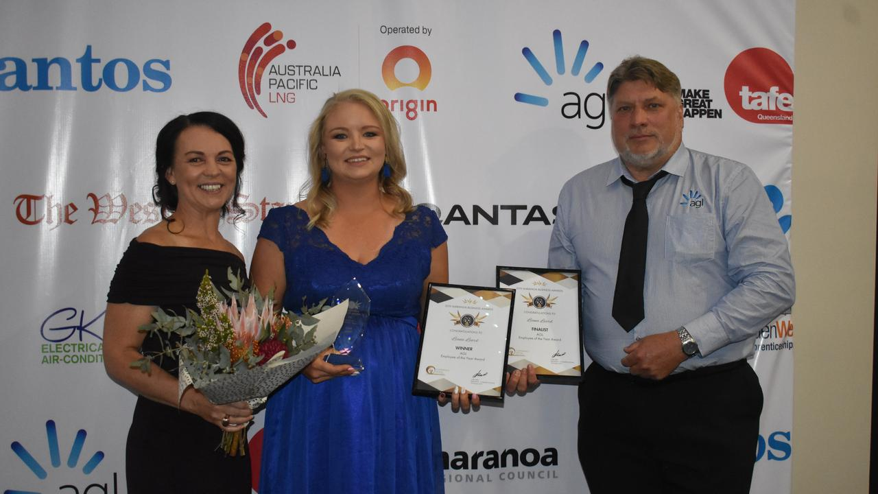 ASSET: Liana Leard from Roma Taxation Office was awarded Employee of the Year at the Maranoa Business Awards.