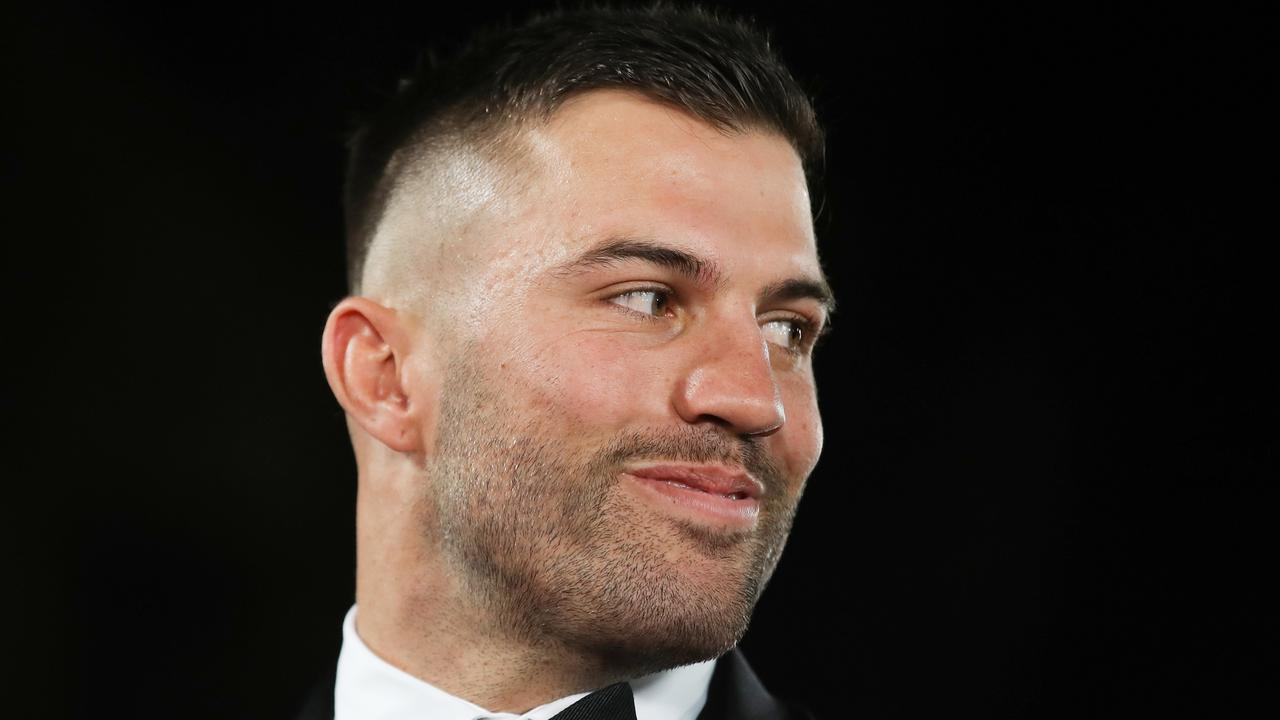 James Tedesco of the Roosters arrives at the 2019 Dally M Awards at the Hordern Pavilion in Sydney, Wednesday, October 2, 2019. (AAP Image/Brendon Thorne) NO ARCHIVING
